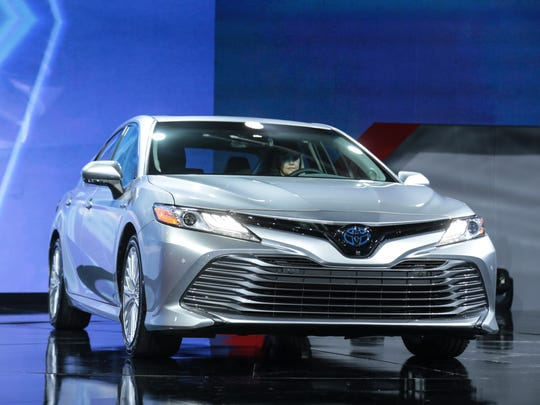 The 2018 Toyota Camry is seen on Monday, Jan. 9, 2017