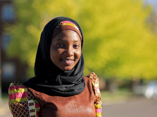 Faheedat Ayoola, a Dixie State University student from Nigeria, leaves the Al-Hekma Center in Cedar City after celebrating Eid-ul-Fitr with fellow Muslims in 2015.