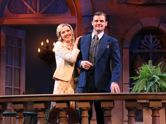 """Liana Hunt as Sibyl and Jason Loughlin as Eloyt star in Riverside Theatre's production of """"Private Lives."""""""