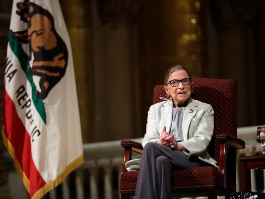 AP JUSTICE GINSBURG STANFORD A USA CA