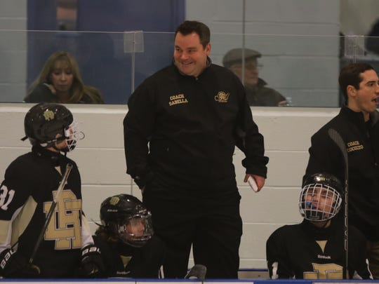 Coach Kevin Sabella led River Dell/Westwood to the state quarterfinals for the first time in program history this winter.