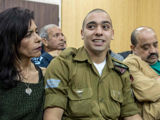 Israeli soldier Elor Azaria, who shot dead a wounded