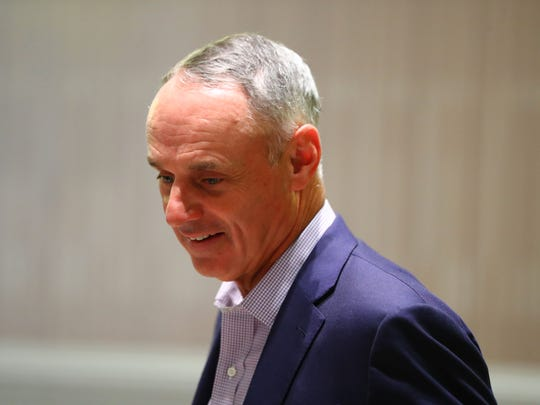 Rob Manfred recognizes baseball games take too long, and he's trying to change it.