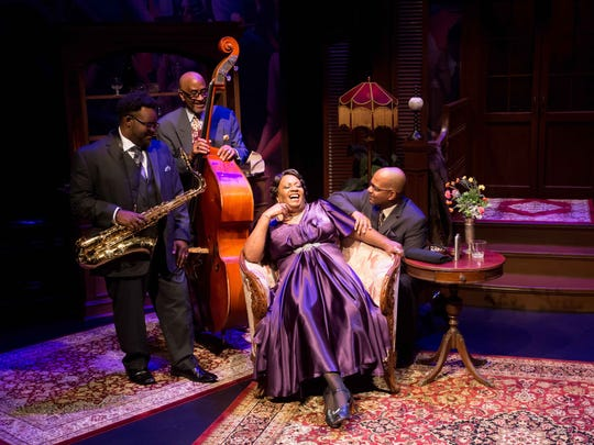 """Anthony E. Nelson, James (Jim) Hankins, Miche Braden and Gerard Williams Gibbs star in the Rubicon Theatre Company's West Coast premiere production of """"The Devil's Music: The Life and Blues of Bessie Smith."""""""