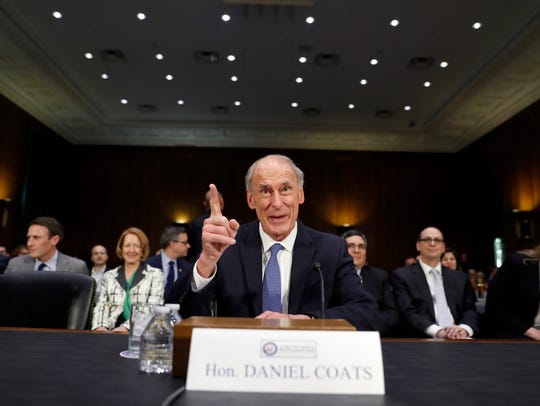 In this Feb. 28, 2017, file photo, Dan Coats speaks