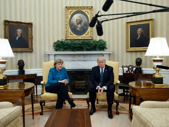 President Trump meets with German Chancellor Angela