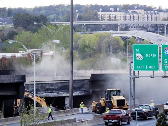 AP OVERPASS COLLAPSE FIRE A USA GA
