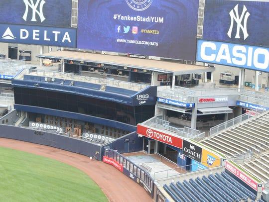 The Toyota Terrace as scene over the Yankee bullpen.