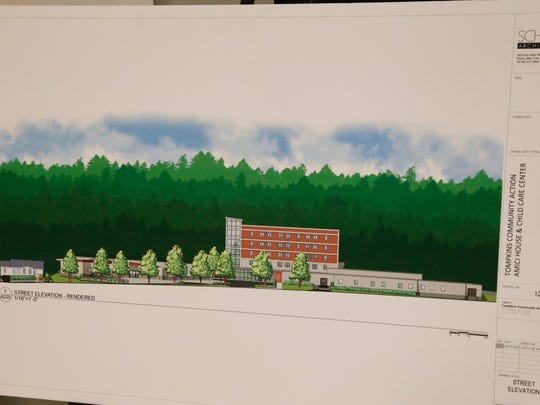 A rendering of the future Tompkins Community Action campus.