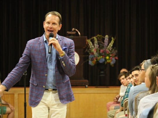 Carson Kressley delivered The Pennington School's last Stephen Crane lecture of the academic year.