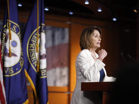 House Minority Leader Nancy Pelosi, D-Calif., speaks