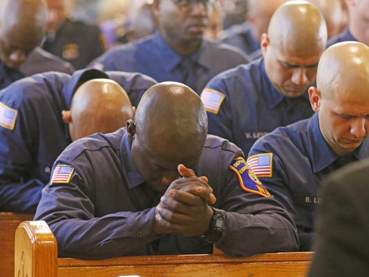 The 18th annual Blue Mass honoring honoring law enforcement took place at St. Gerard Majella RC Church in Paterson.