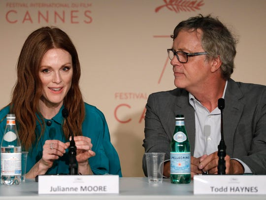 Julianne Moore, left, and director Todd Haynes at Thursday's