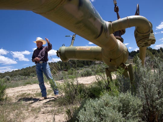 Rancher Don Schreiber talks about the oil and gas operations on his ranch in Gobernador.