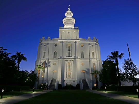 The St. George Utah Temple of The Church of Jesus Christ of Latter-day Saints is a popular tourist destination.