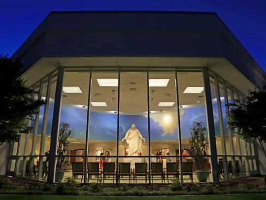 The St. George Temple Visitors' Center symbolizes an