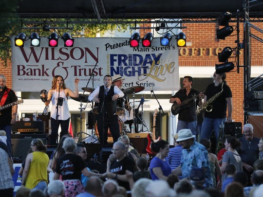 The crowd danced along to the sounds of The Pilots at the first Friday Night Live of 2017.