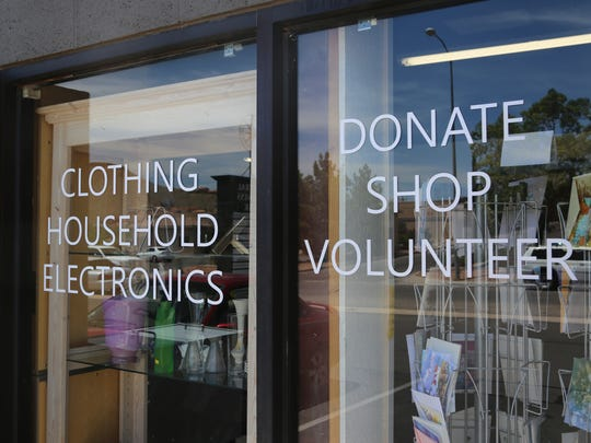 Clothing, household items and other goods are sold