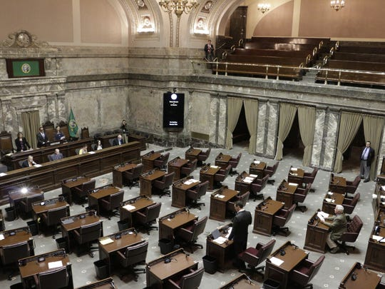The Washington state Legislature chambers.