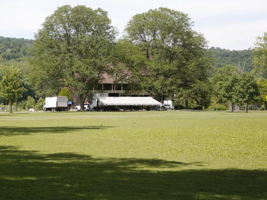 The concert grounds for the Ithaca Reggae Festival,