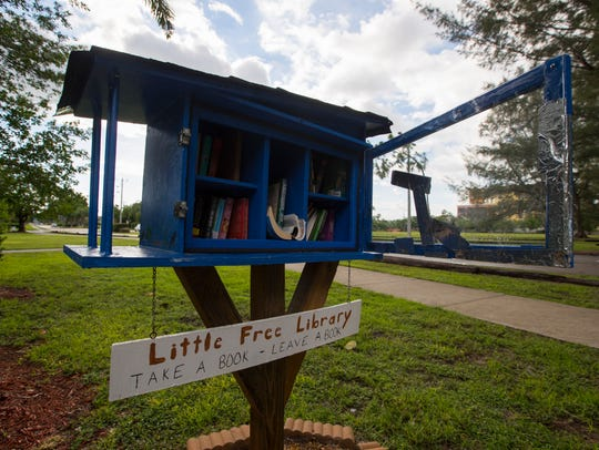 A Little Free Library station can be found at Jaycee