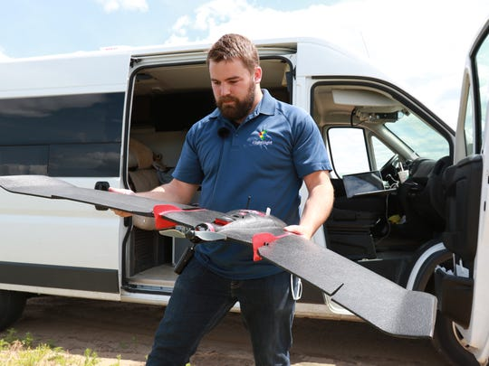 Joe Paul of FlightSight uses a Swiss-made drone to