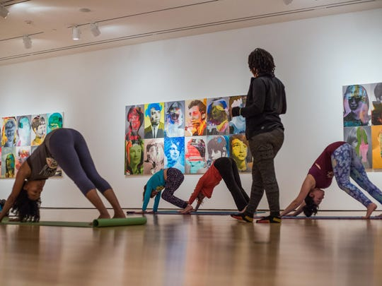 The Paul and Lulu Hilliard University Art Museum hosts Yoga in the Galleries Saturday at 11 a.m.
