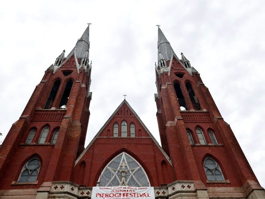 The spires of the Sweetest Heart of Mary Roman Catholic
