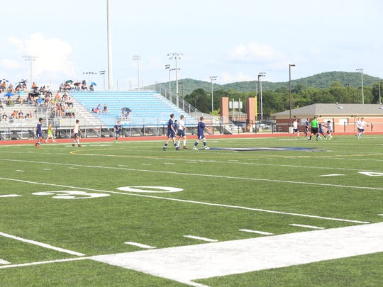 Home sectional matches for two Rutherford County soccer teams were moved to Nolensville High during the spring.