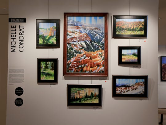 """The work of painter Michelle Condrat is part of """"Chasing Light,"""" a plein air art exhibit on display at the Southern Utah Museum of Art in Cedar City this summer."""