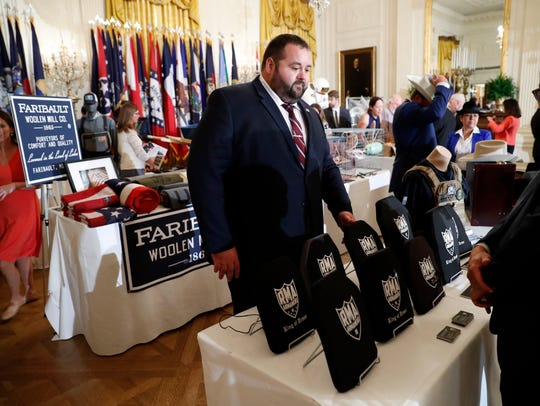 "Items are displayed during a ""Made in America,"" product"