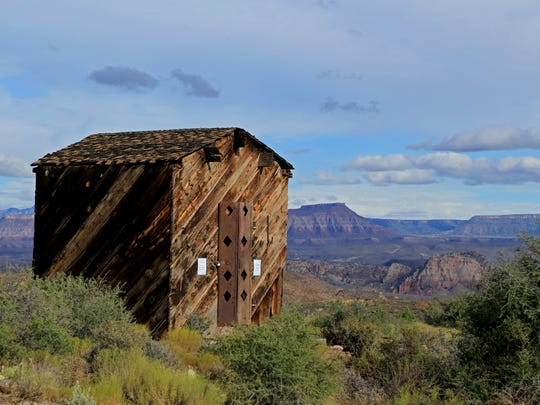 The Silver Reef jail only recently traveled back to the ghost town following a long stint on farms in Washington City.