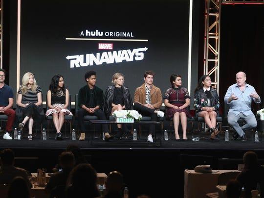 The stars and producers of 'Marvel's Runaways,' speak
