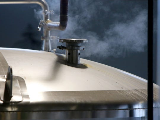 Inside the brewhouse of City Lights Brewing in Milwaukee.