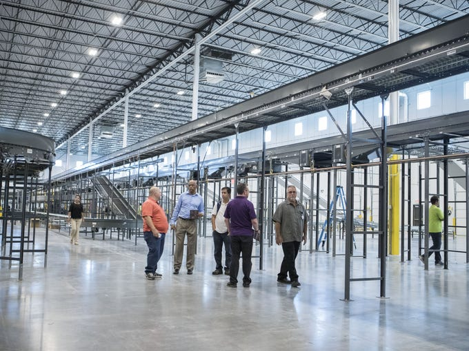 The inside of the new Conair distribution center is