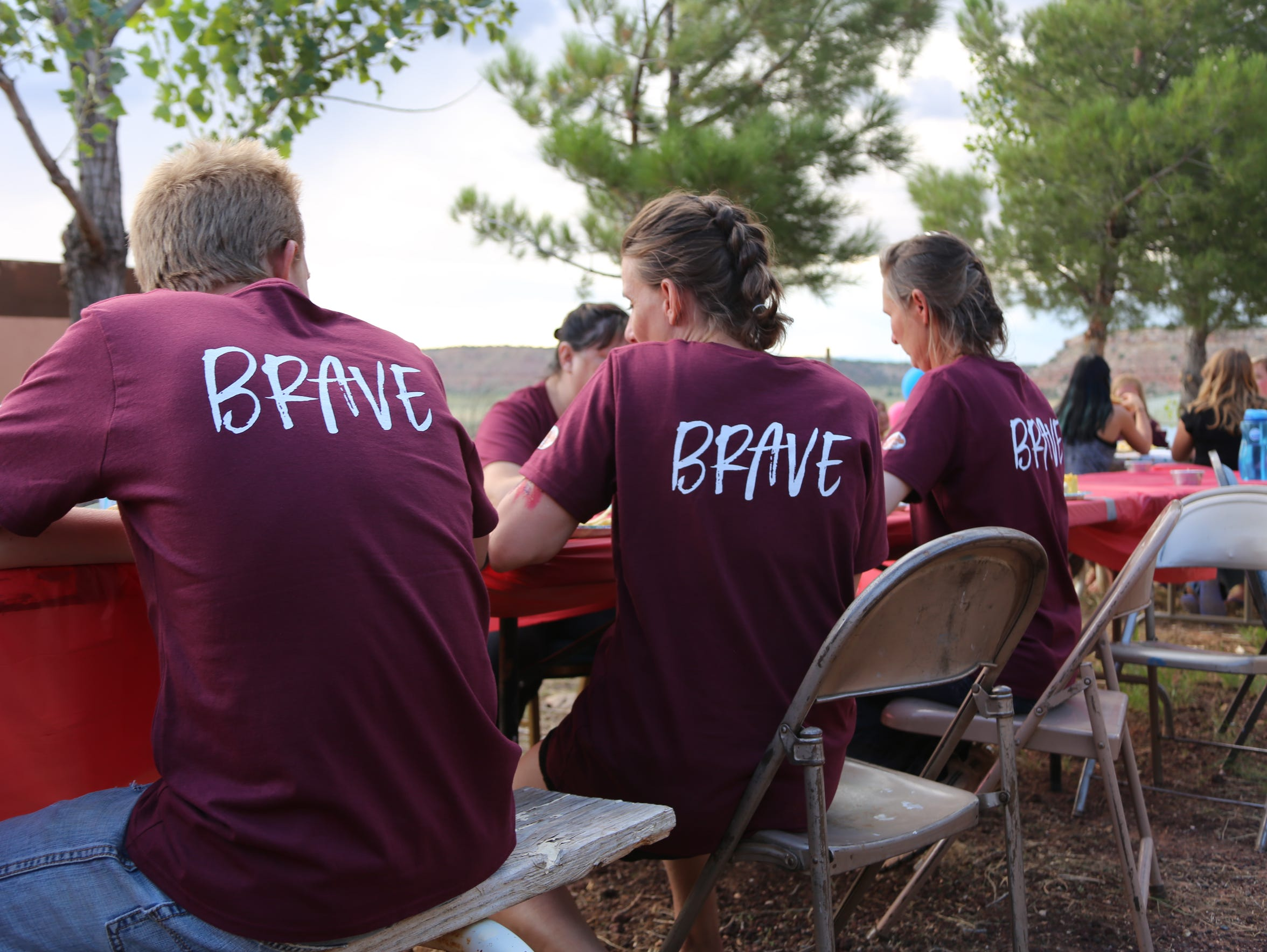 Young women attend the Brave Youth camp for former