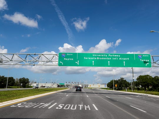 The diverging diamond intersection in Sarasota, Florida,