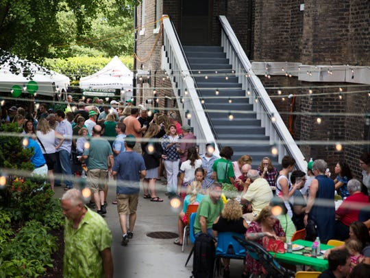 Attendees mill around at the 10th annual Irish Fest