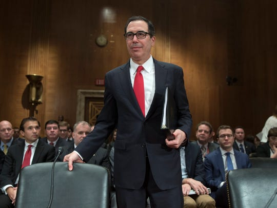 Treasury Secretary Steve Mnuchin testifies before a