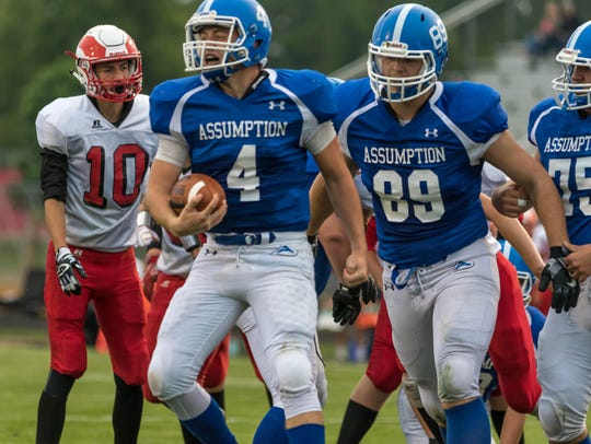 Assumption four-year starting quarterback Jake Sullivan has returned to action for the final two games of the regular season after suffering an injury in the season opener. The Royals visit Pittsville in a first round Division 7 playoff clash Friday night.