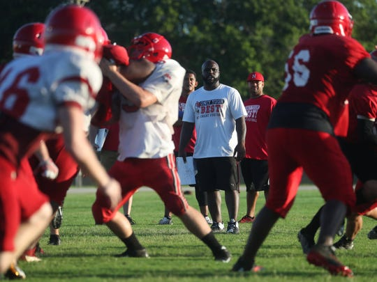 A recent football practice at North Fort Myers High