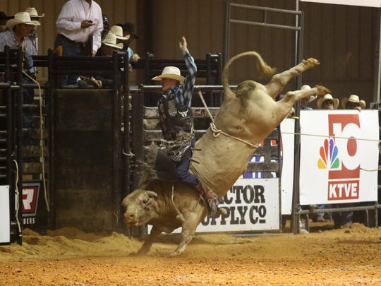 The Ike Hamilton Expo Center hosted a PBR event the Ultimate Challenge Bull Riding Saturday night, August 26, in West Monroe.