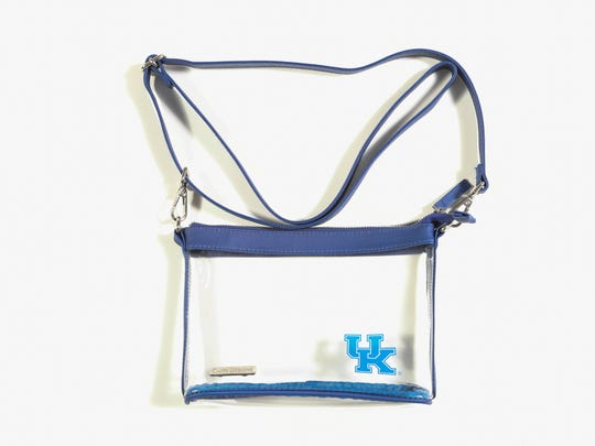 Clear stadium approved bag, $28, Crush Boutique