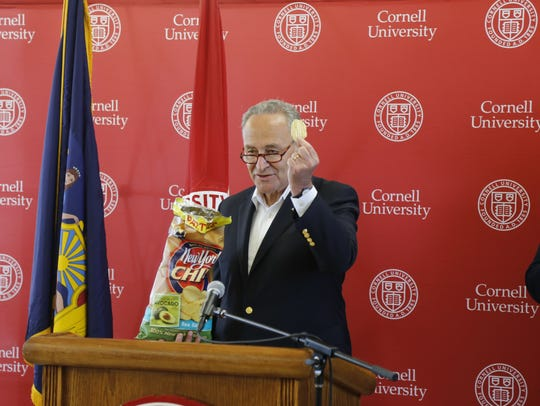 U.S. Senator Charles Schumer ate a few potato chips