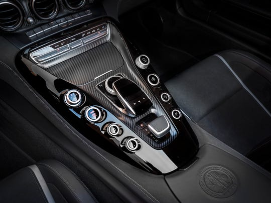 The interior of the AMG GT C is a no-nonsense driver-focused