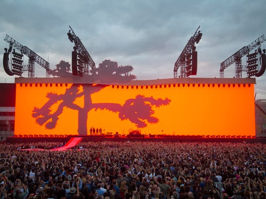 """This image shows """"The Joshua Tree"""" stage from a earlier tour stop this year."""