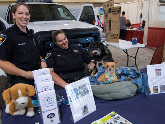 Animal Control officers Ann Vander Vliet, left, and