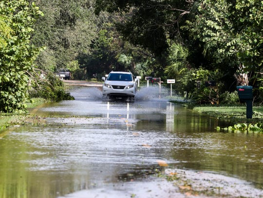Flooding along West Gulf Drive is normal during rainy