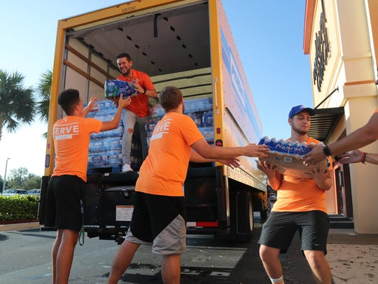 The Next Level Church Serve Team went though neighborhoods in Dunbar distribute water to families in need following Hurricane Irma.