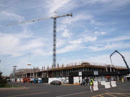 Huge new crane in Asbury Park at the former Esperanza